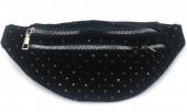Z-C1.1 BAG524-001A Waist Bag Velvet with Sequins 30cm Black
