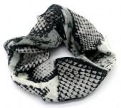 S-D5.3 H305-0139D Scrunchie Snake Grey