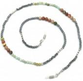 B-E23.2 GL615 Sunglass Chain Glassbeads and Semi Precious Stones