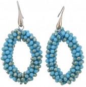 B-D10.1  E007-001 Facet Glass Beads 4.5x3.5cm Shiny Blue
