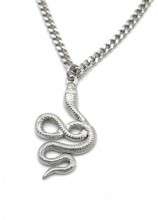 B-B8.3 N010-029S S. Steel Chain Necklace with 3cm Snake