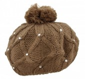 R-N8.1 Beanie with Crystals Brown