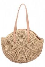 Z-E2.5 BAG324-003 Round Woven Straw Bag