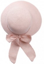 R-H6.2 HAT504-009C Hat with Ribbon Pink