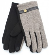 S-B3.3  GLOVE403-006B Gloves for Men Brown