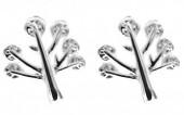 A-E4.4 SE104-124 Earrings 925S Silver 8mm