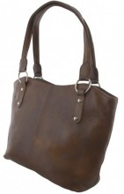 T-E1.1  BAG-553 Leather Bag 40x28x11cm Brown