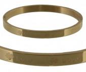 F-C3.1   Stainless Steel Bangle 6x5cm B005-005 Gold Clover Love