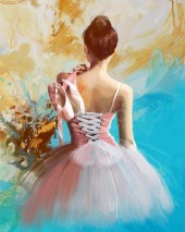 T-M2.1 RSB8361 Diamond Painting Set Ballerina 50x40cm
