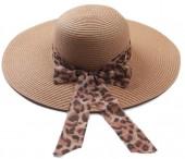 Z-E3.2 HAT504-005A Summer Hat Leopard Brown