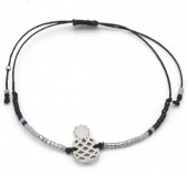 C-C20.2 B017-002 Japanese DQ Beads with Stainless Steel Pineapple Black