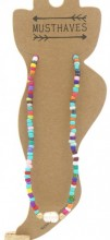 G-F22.2 ANK001A Anklet with Pearl and Beads Multi Color