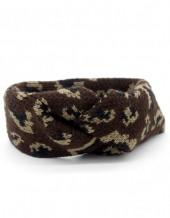 Q-L8.2 H114-022 Headband with Leopard Print Dark Brown