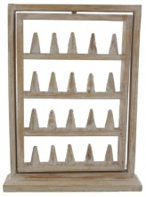 R-D8.2  Turnable Wooden Display For Rings 40x27x7.5cm White