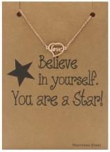 E-D20.1 B015-005 Stainless Steel Bracelet Love Rose Gold