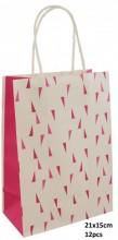 Q-H4.1 PK525-008B Paper Giftbag 21x15cm Pink 12pcs