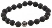 B-F20.1 S. Steel Bracelet with Semi Precious Stones Black