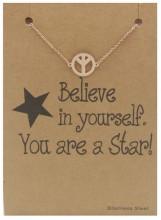 E-E17.5 B015-010 Stainless Steel Bracelet Peace Rose Gold