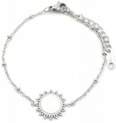 B-D20.3 B301-025S S. Steel Bracelet  15mm Sun with Mother of Pearl Silver