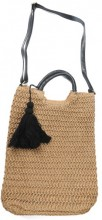 Y-F4.5 BAG324-007 Straw Bag with Tassel 38x30cm