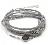D-F21.3 B017-001 Luxury Stainless Steel Wrap Bracelet