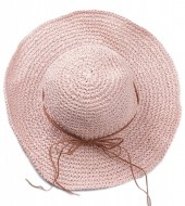 Q-I3.2 HAT504-003C Woven Hat Pink