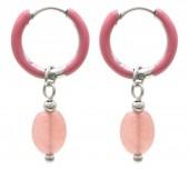 C-E5.4 E2142-034S S. Steel Earrings 1x2.5cm Amethyst