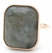 F-F18.1 R532-011R Adjustable Ring with Large Stone Rose Gold