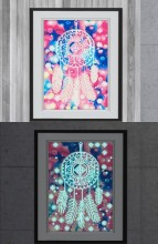 R-J2.2 YGSM36 Diamond Painting Full Set Glow In the Dark 35x25cm