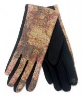R-K6.1 GLOVE403-076C Glove Flowers Brown