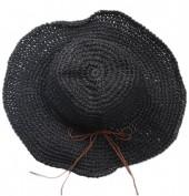 Q-J6.2 HAT504-003D Woven Hat Black
