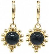 G-E5.2 E532-004G Earrings Dots Black-Gold