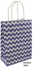 T-G6.1 PK525-006A Paper Giftbag 21x15cm Blue 12pcs