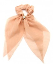 S-A5.3  H305-135C Scrunchie with Bow Pink