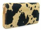 R-L6.1  WA531-002A PU Wallet Faux Cowhide 19x10cm Light Brown