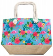 Y-C6.3 BAG528-001D Beach Bag Flamingos