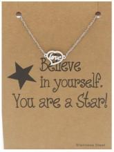 D-F20.4 B015-005 Stainless Steel Bracelet Love Silver