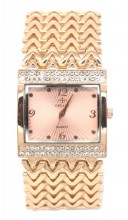 A-E9.1  WA523-006 Quartz Watch Metal with Crystals 30mm Rose Gold