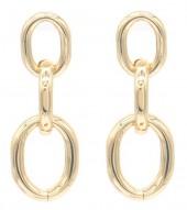 E-A8.2  E2019-012G Metal Chain Earrings 4cm Gold
