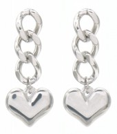 C-B19.4 E013-001S S. Steel Earrings 3cm Silver