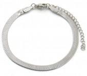 C-E6.2 B019-001S S. Steel Bracelet 4mm Silver