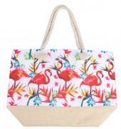 Y-E2.4 BAG528-028 Beach Bag Flamingos 36x52cm