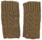 L-E8.2  Knitted Hand Wamers with Buttons Brown