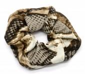 S-E1.3 H305-0139B Scrunchie Snake Brown