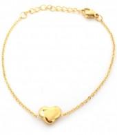 B-F19.9 B410-006 S. Steel Bracelet Heart 10mm Gold