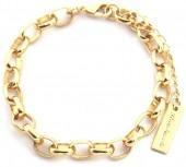 E-C5.2 B2019-016G Metal Chain Bracelet Gold