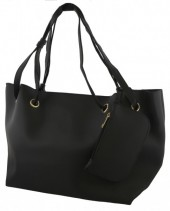 Y-D3.4 BAG535-004A PU Shopper 50x30x16cm Black