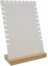 L-C2.2 PK424-031B Jewelry Display Wood with Plastic 28x18x8cm