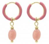 C-E18.3  E2142-034G S. Steel Earrings 1x2.5cm Amethyst