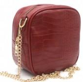 Y-C2.3 BAG535-001B Crossbody Bag Croco 18x18x8.5cm Red